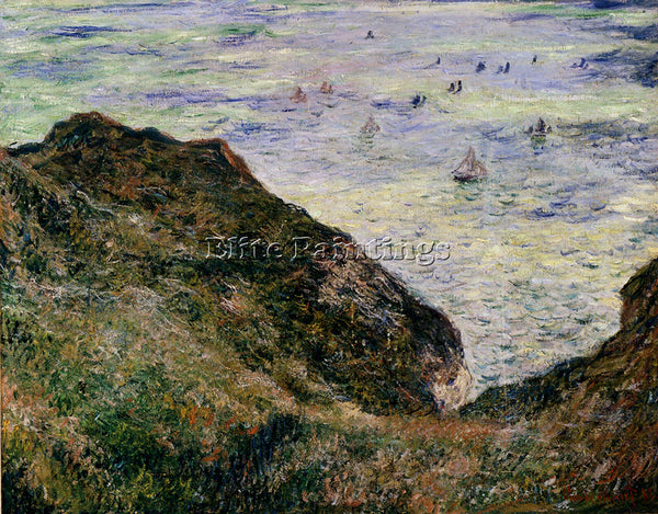 CLAUDE MONET VIEW OVER THE SEA ARTIST PAINTING REPRODUCTION HANDMADE OIL CANVAS