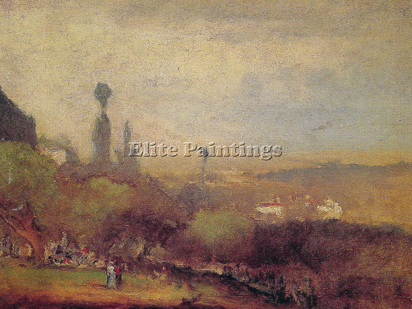 GEORGE INNESS MONTE LUCIA PERUGIA ARTIST PAINTING REPRODUCTION HANDMADE OIL DECO