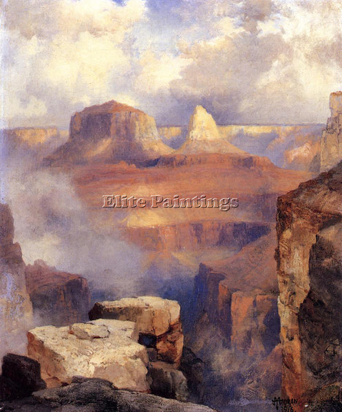 THOMAS MORAN GRAND CANYON2 ARTIST PAINTING REPRODUCTION HANDMADE OIL CANVAS DECO