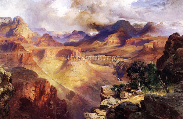 THOMAS MORAN GRAND CANYON3 ARTIST PAINTING REPRODUCTION HANDMADE OIL CANVAS DECO