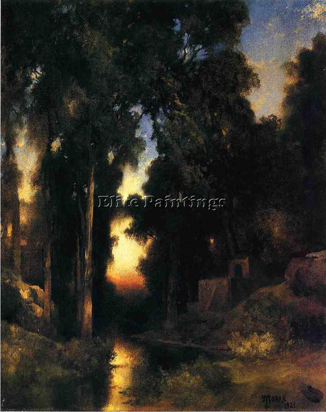 THOMAS MORAN MISSION IN OLD MEXICO ARTIST PAINTING REPRODUCTION HANDMADE OIL ART