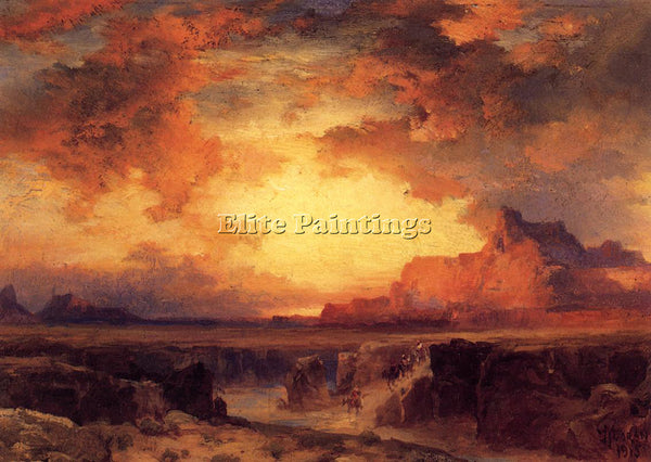 THOMAS MORAN NEAR FORT WINGATE NEW MEXICO ARTIST PAINTING REPRODUCTION HANDMADE