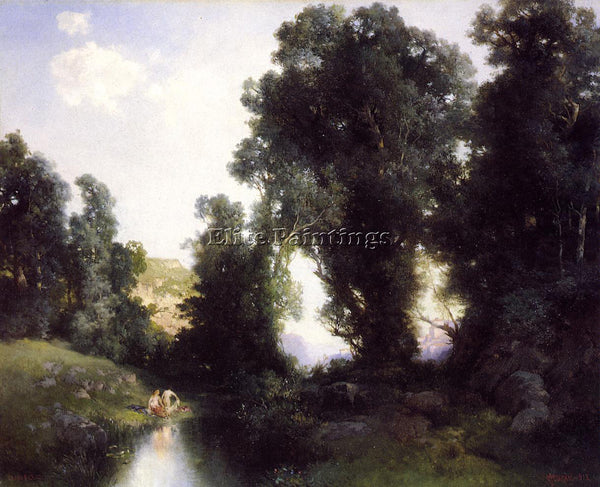 THOMAS MORAN THE BATHING HOLE CUERNAVACA MEXICO ARTIST PAINTING REPRODUCTION OIL
