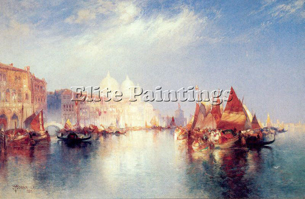 THOMAS MORAN THE GRAND CANAL ARTIST PAINTING REPRODUCTION HANDMADE CANVAS REPRO