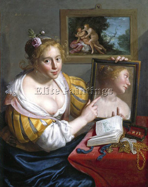 PAULUS MOREELSE 27MIRROR ARTIST PAINTING REPRODUCTION HANDMADE CANVAS REPRO WALL