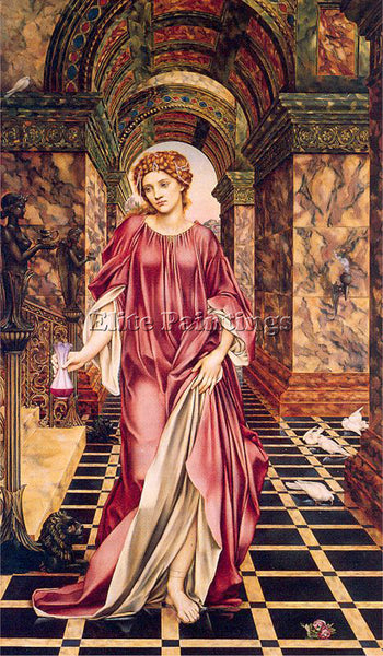 BRITISH MORGAN EVELYN DE ENGLISH 1855 1919 3 ARTIST PAINTING HANDMADE OIL CANVAS