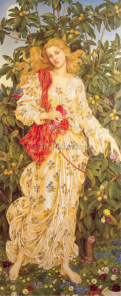 BRITISH MORGAN EVELYN DE ENGLISH 1855 1919 4 ARTIST PAINTING HANDMADE OIL CANVAS