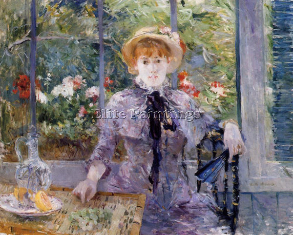 BERTHE MORISOT AFTER LUNCHEON ARTIST PAINTING REPRODUCTION HANDMADE CANVAS REPRO