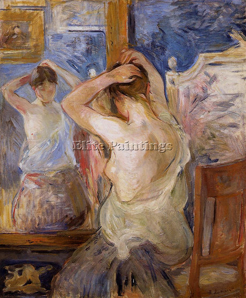 MORISOT BERTHE BEFORE THE MIRROR ARTIST PAINTING REPRODUCTION HANDMADE OIL REPRO