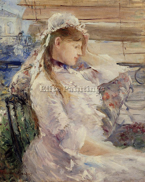MORISOT BERTHE BEHIND THE BLINDS ARTIST PAINTING REPRODUCTION HANDMADE OIL REPRO
