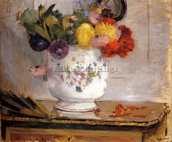 BERTHE MORISOT DAHLIAS ARTIST PAINTING REPRODUCTION HANDMADE CANVAS REPRO WALL