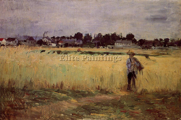 MORISOT BERTHE IN THE WHEAT FIELDS AT GENNEVILLIERS ARTIST PAINTING REPRODUCTION