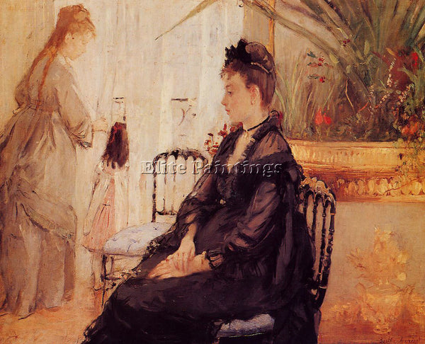 MORISOT BERTHE INTERIOR ARTIST PAINTING REPRODUCTION HANDMADE CANVAS REPRO WALL