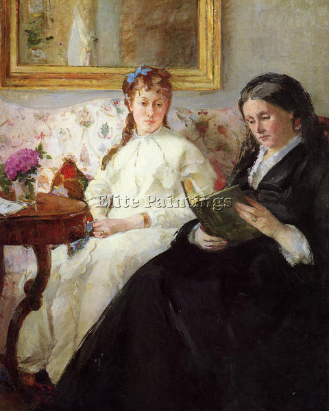 MORISOT BERTHE MOTHER AND SISTER OF THE ARTIST ARTIST PAINTING REPRODUCTION OIL