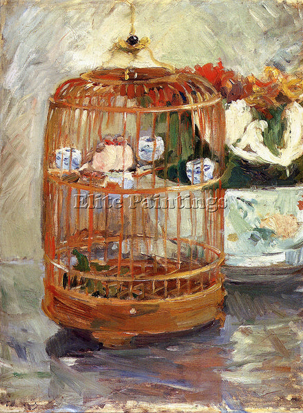 BERTHE MORISOT THE CAGE ARTIST PAINTING REPRODUCTION HANDMADE CANVAS REPRO WALL