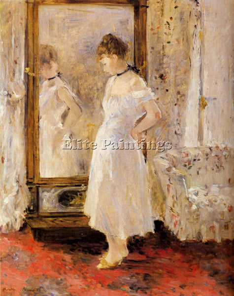 BERTHE MORISOT THE CHEVAL GLASS ARTIST PAINTING REPRODUCTION HANDMADE OIL CANVAS