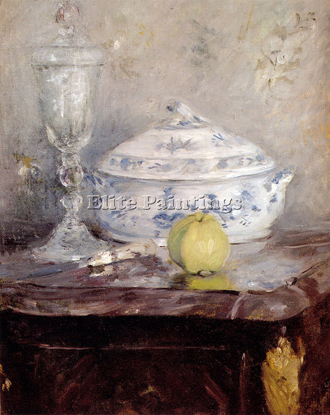BERTHE MORISOT TUREEN AND APPLE ARTIST PAINTING REPRODUCTION HANDMADE OIL CANVAS