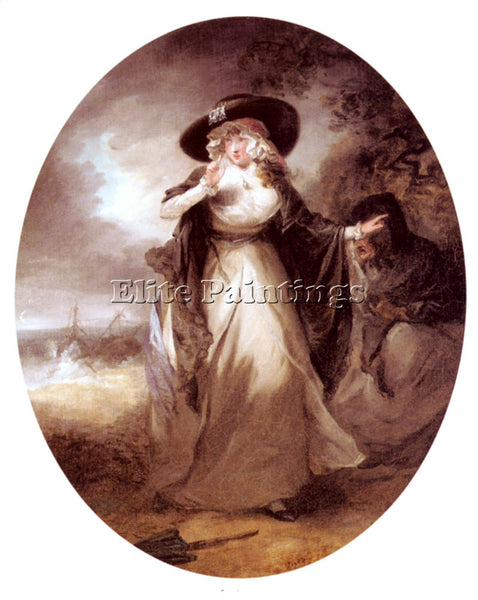 GEORGE MORLAND LOUISA ARTIST PAINTING REPRODUCTION HANDMADE OIL CANVAS REPRO ART