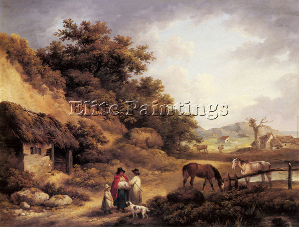 GEORGE MORLAND WAYSIDE GOSSIPS ARTIST PAINTING REPRODUCTION HANDMADE OIL CANVAS