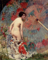 AMERICAN MOROT AIME NICOLAS NUDE WIT ARTIST PAINTING REPRODUCTION HANDMADE OIL