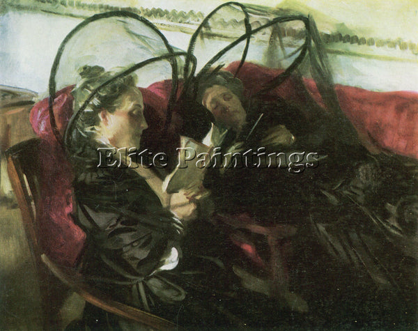 JOHN SINGER SARGENT MOSQUITO NETS ARTIST PAINTING REPRODUCTION HANDMADE OIL DECO