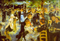 RENOIR MOULIN GALETTE 2 ARTIST PAINTING REPRODUCTION HANDMADE CANVAS REPRO WALL