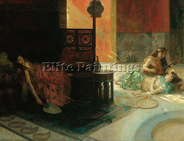 HENRY SIDDONS MOWBRAY HAREM SCENE ARTIST PAINTING REPRODUCTION HANDMADE OIL DECO