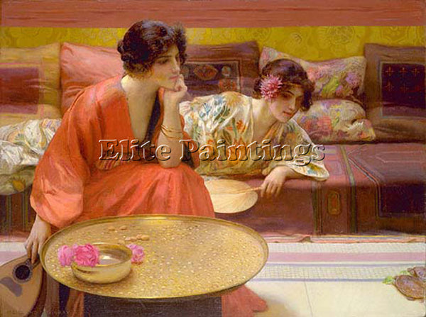 HENRY SIDDONS MOWBRAY IDLE HOURS ARTIST PAINTING REPRODUCTION HANDMADE OIL REPRO