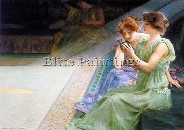 HENRY SIDDONS MOWBRAY IRIDESCENCE ARTIST PAINTING REPRODUCTION HANDMADE OIL DECO