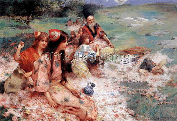 HENRY SIDDONS MOWBRAY ORIENTAL FANTASY ARTIST PAINTING REPRODUCTION HANDMADE OIL