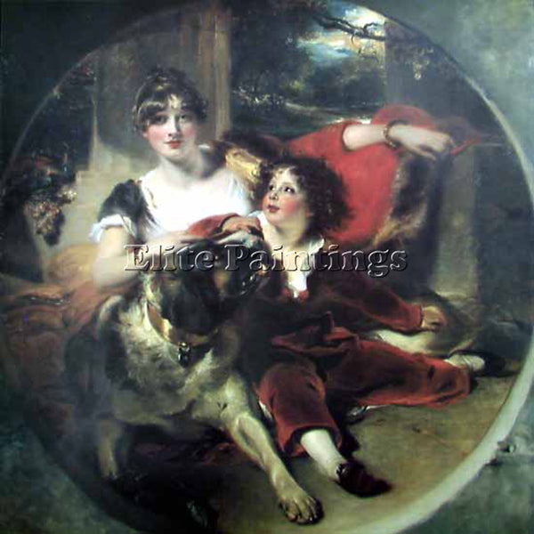 SIR THOMAS LAWRENCE MRS MAGUIRE AND HER SON  ARTIST PAINTING HANDMADE OIL CANVAS
