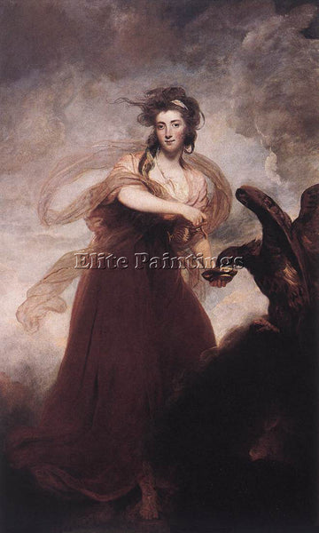 JOSHUA REYNOLDS MRS MUSTERS AS HEBE ARTIST PAINTING REPRODUCTION HANDMADE OIL