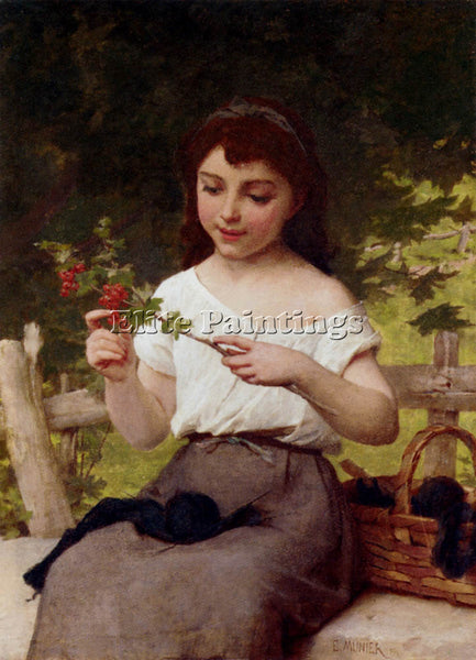 EMILE MUNIER A SPRIG OF FLOWERS ARTIST PAINTING REPRODUCTION HANDMADE OIL CANVAS