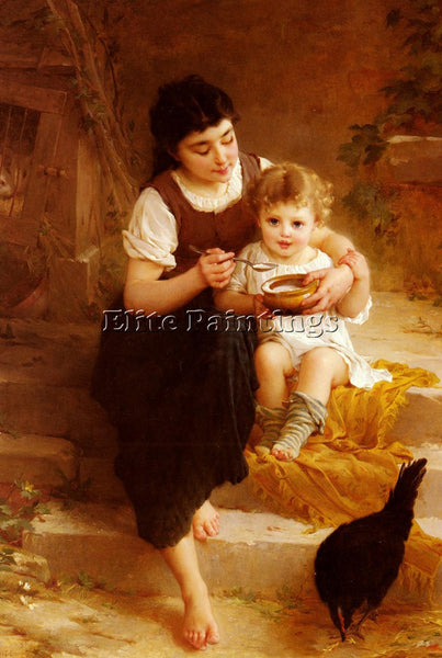 EMILE MUNIER LA GRANDE SOEUR ARTIST PAINTING REPRODUCTION HANDMADE CANVAS REPRO