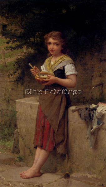 EMILE MUNIER LA JEUNE PAYSANNE ARTIST PAINTING REPRODUCTION HANDMADE OIL CANVAS