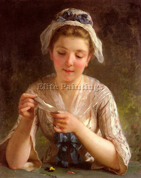 EMILE MUNIER LA LETTRE ARTIST PAINTING REPRODUCTION HANDMADE CANVAS REPRO WALL