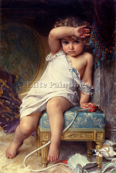 EMILE MUNIER THE BROKEN VAS ARTIST PAINTING REPRODUCTION HANDMADE OIL CANVAS ART