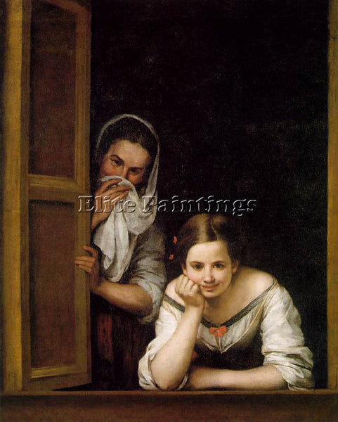 BARTOLOME ESTEBAN MURILLO A GIRL AND HER DUENNA ARTIST PAINTING REPRODUCTION OIL