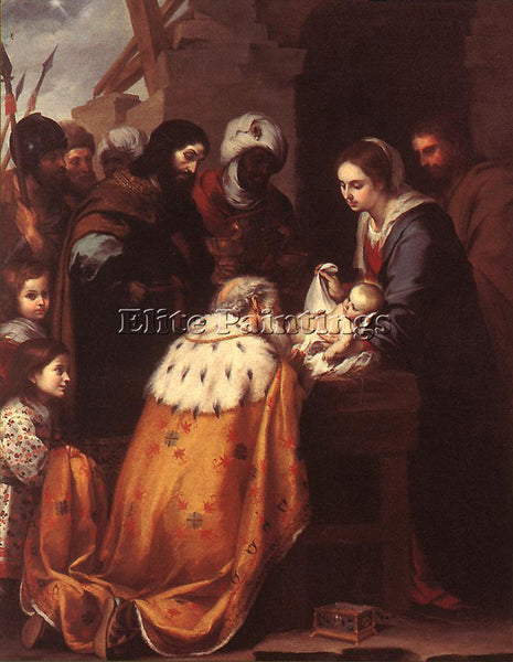 BARTOLOME ESTEBAN MURILLO ADORATION OF THE MAGI ARTIST PAINTING REPRODUCTION OIL