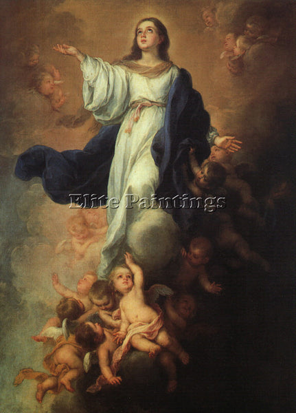 BARTOLOME ESTEBAN MURILLO ASSUMPTION OF THE VIRGIN ARTIST PAINTING REPRODUCTION