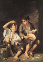 BARTOLOME ESTEBAN MURILLO BOYS EATING FRUIT GRAPE AND MELON EATERS REPRODUCTION
