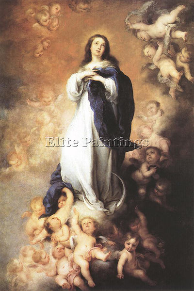 BARTOLOME ESTEBAN MURILLO IMMACULATE CONCEPTION C1678 ARTIST PAINTING HANDMADE