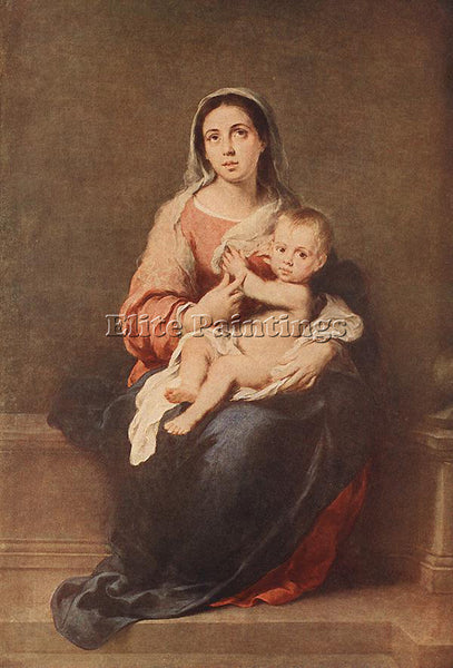BARTOLOME ESTEBAN MURILLO MADONNA AND CHILD C1670 ARTIST PAINTING REPRODUCTION