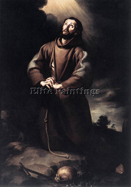 BARTOLOME ESTEBAN MURILLO ST FRANCIS OF ASSISI AT PRAYER ARTIST PAINTING CANVAS