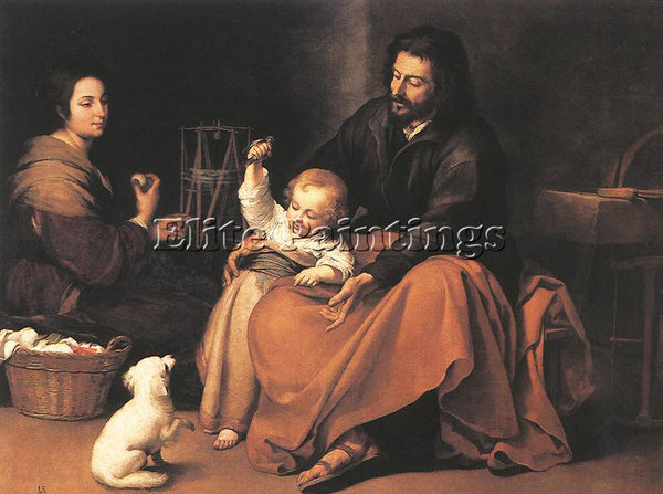BARTOLOME ESTEBAN MURILLO THE HOLY FAMILY 1650 ARTIST PAINTING REPRODUCTION OIL