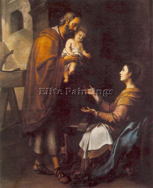 BARTOLOME ESTEBAN MURILLO THE HOLY FAMILY C1660 ARTIST PAINTING REPRODUCTION OIL
