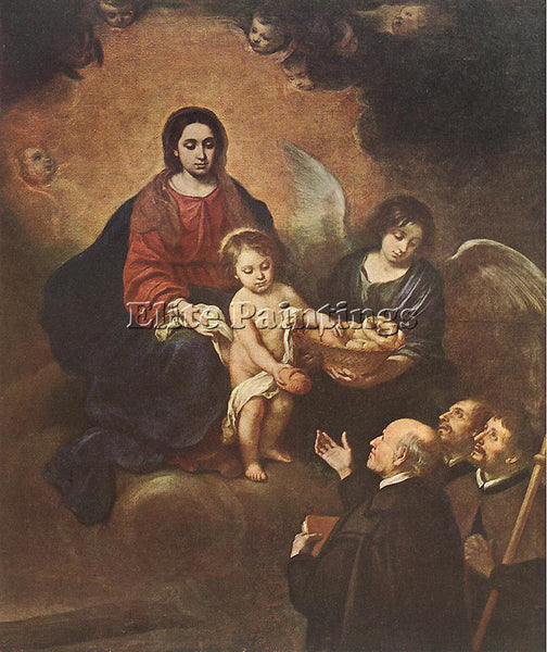 BARTOLOME MURILLO THE INFANT JESUS DISTRIBUTING BREAD TO PILGRIMS ARTIST CANVAS