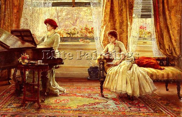 BRITISH MUSCHAMP FRANCIS SUDNEY NEW MUSIC ARTIST PAINTING REPRODUCTION HANDMADE
