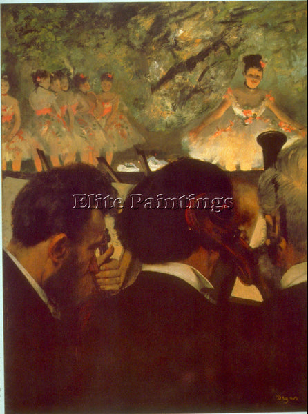 DEGAS MUSICIANS ARTIST PAINTING REPRODUCTION HANDMADE CANVAS REPRO WALL  DECO