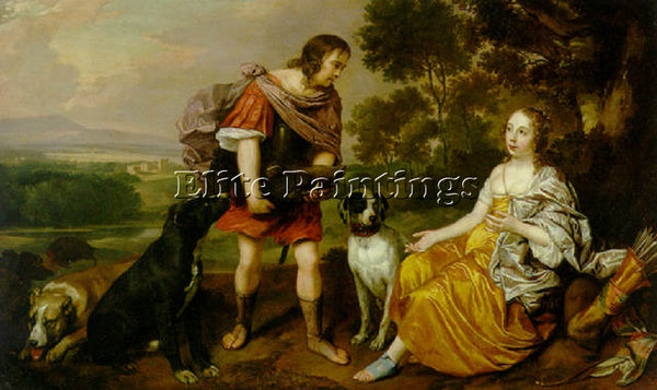 JAN MYTENS PORTRAIT HISTOIRE YOUNG MAN AND LADY AS MELEAGER AND ATALANTA ARTIST